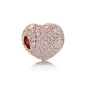 Pavé Open My Heart Clip - PANDORA ROSE